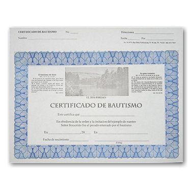 Certificado De Bautismo Actualizado Muestras De Documentos