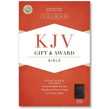 KJV Gift & Award Bible, Black Imitation Leather